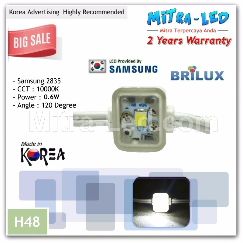 Samsung 2835 Brilux Trans Angle LED Module 1 Mata ( 1 Pack isi 100 Pcs ) - H48