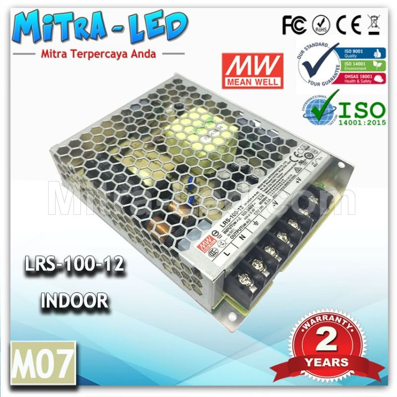 POWER SUPPLY LRS-100-12 12V MEANWELL -M07