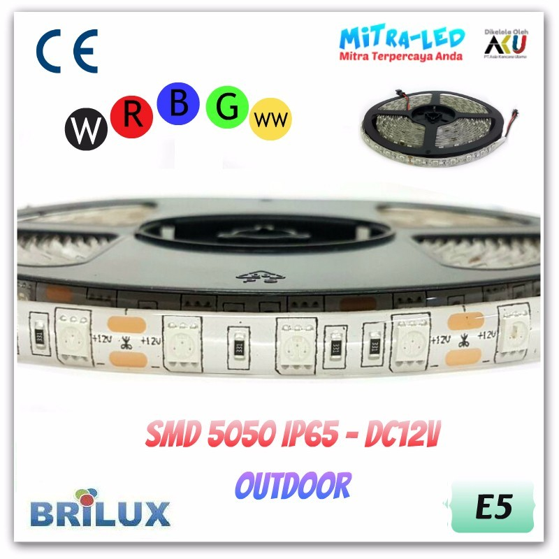 LED Strip SMD 5050 12V IP44 / IP65 Waterproof Silikon - BRILUX - E05