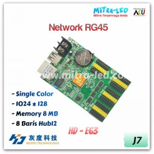 HD-E63 Ethernet +USB Running Text Controller Card | 1024 x 128 - J07