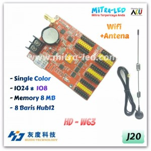 HD-W63 Wifi+USB Running Text Controller Card | 1024 x 128 - J20