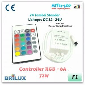 24 Key RGB Controller 6A | Infrared - F01