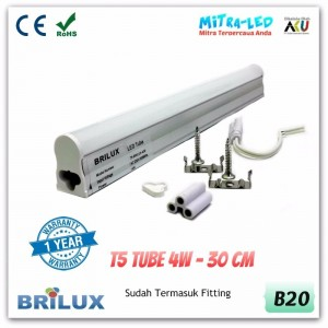 LED Neon Integrated T5 Tube 4W 30cm | BRILUX Garansi 1 Tahun - B20