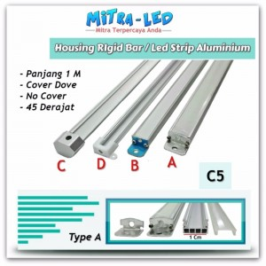 Housing Aluminium Rigid Bar / LED Strip Type A Cover Dove - C05