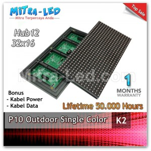 LED Panel Modul P10 Outdoor Diskon MERAH | Red  - K2