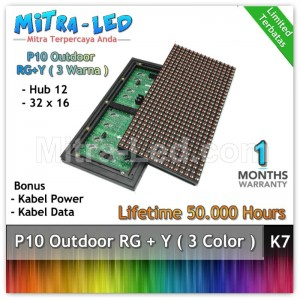 LED Panel Modul P10 Outdoor RG + Y / RB + P - 3 WARNA - K07