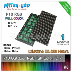 LED Panel Modul P10 DIP Outdoor RGB - FULL COLOR HUB 75 - K08