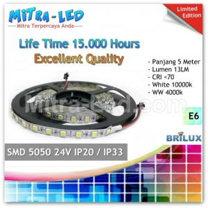 LED Strip SMD 5050 24V IP20 / IP33 Indoor - BRILUX - E06