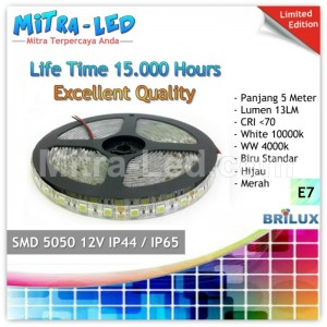 LED Strip SMD 5050 24V IP44 / IP65 Waterproof Silikon - BRILUX - E7