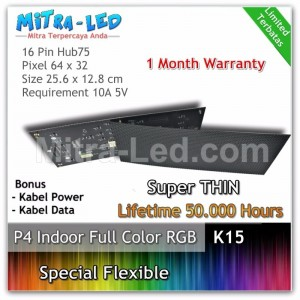 LED Panel Modul P4 Flexible Indoor RGB - FULL COLOR  HUB 75 - K15