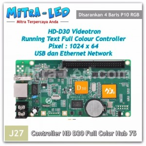 HD-D30 Videotron + Running Text Controller Card | 1024 x 64 Ethernet & USB