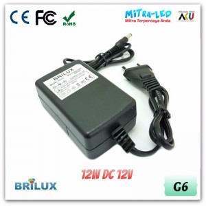 Brilux Adaptor Power Supply 12V DC 1A - High Quality