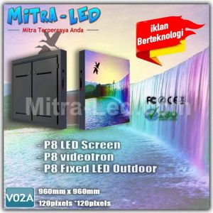 P8 Videotron Cabinet LED Screen Outdoor 960mm x 960mm - V02A