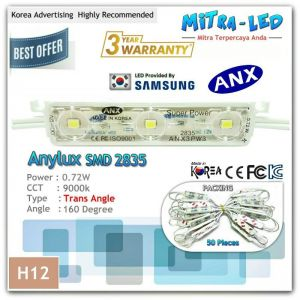 Super Power ANX 2835 Trans Angle LED Module 3 Mata ( 1 Pack Isi 50 Pcs ) - H12