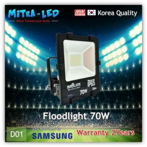 LED Samsung Floodlight | Lampu Tembak 70Watt IP65 AC 220V Garansi 2 Tahun