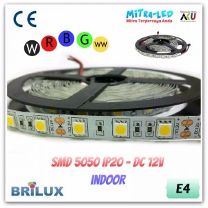 LED Strip SMD 5050 12V IP20 / IP33 Indoor - BRILUX - E04