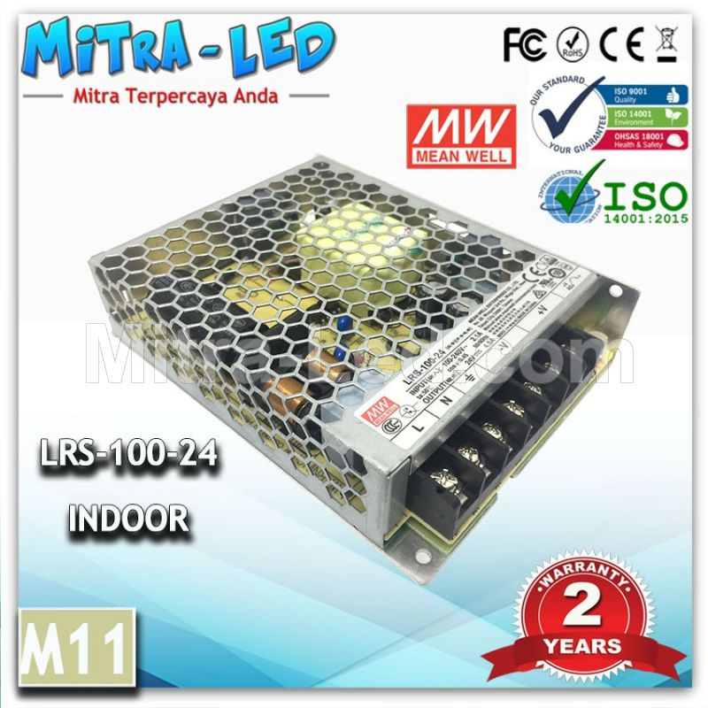 Power Supply LRS-100-24 24V MeanWell -M10