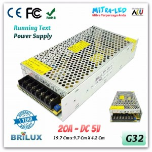 Brilux Switching Power Supply 5V DC 5A - High Quality
