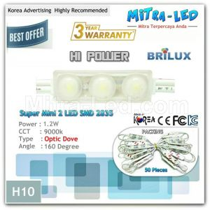 Mini Optic Dove 2835 ANX LED Module 3 Mata ( 1 Pack isi 50 Pcs ) - H11
